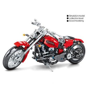 782 Pcs Mechanical Vintage Classic Motorcycle DIY Assemble Building Blocks Model Toys Construction Motocross Model Toys For Kid