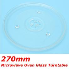 270mm Universal Clear Microwave Oven Glass Turntable Round Plate Tray Replacement for Midea other brands Thicken(China)