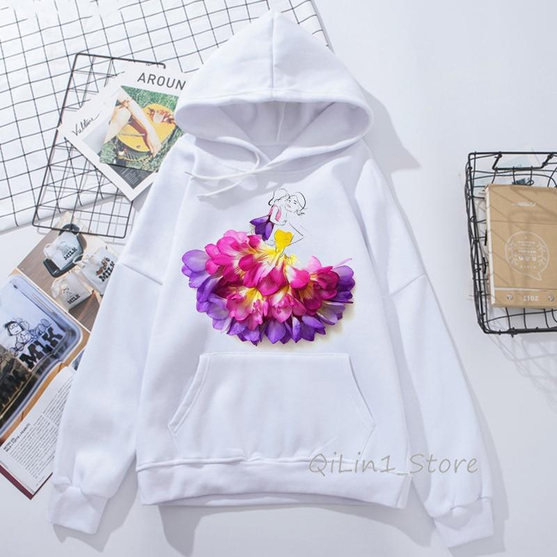 Hoodies Sweatshirt Pockets Floral,Spring Petals Watercolors,Zip up Sweatshirts for Women