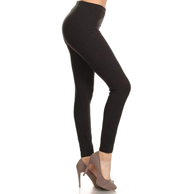 Fall 2019 Casual Woman Shiny Leggings Legins Woman Leggins Mujer Spandex SoftElasticity Jeggings Ladies Girl 20 SolidColors
