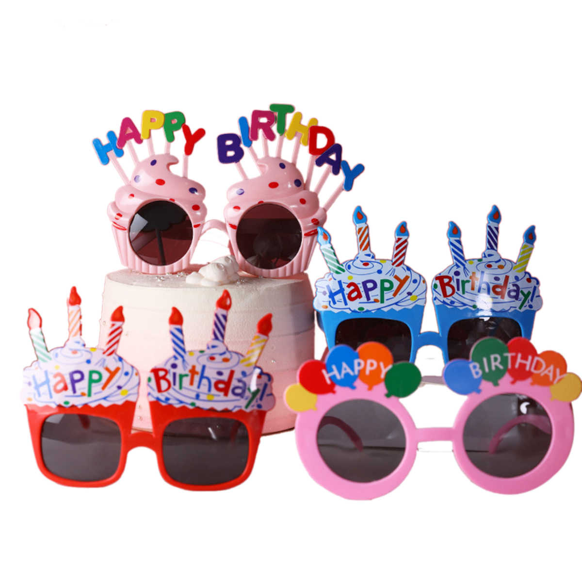 יום הולדת מסיבת משקפי שמש משקפיים מצחיקים תמונת המפלגה Props קישוטי מחזיקי לילדים קישוטי תינוק מקלחת המפלגה