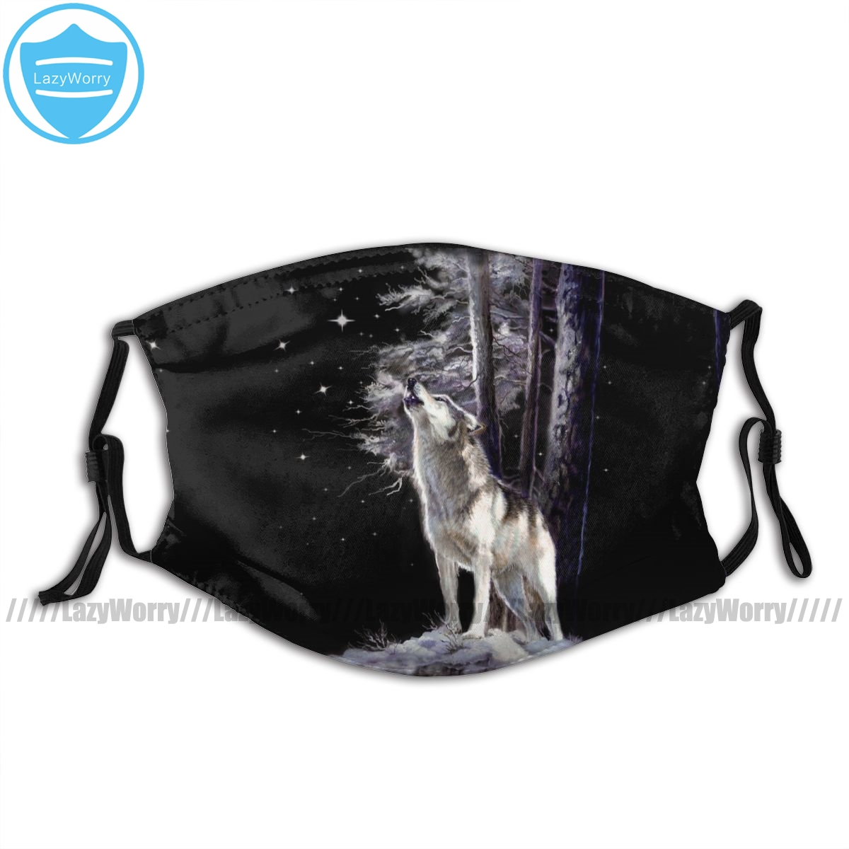 Realistic Wolf Mouth Face Mask Wildlife Bag With Romantic Howling Facial Mask Polyester Adult Pretty Mask