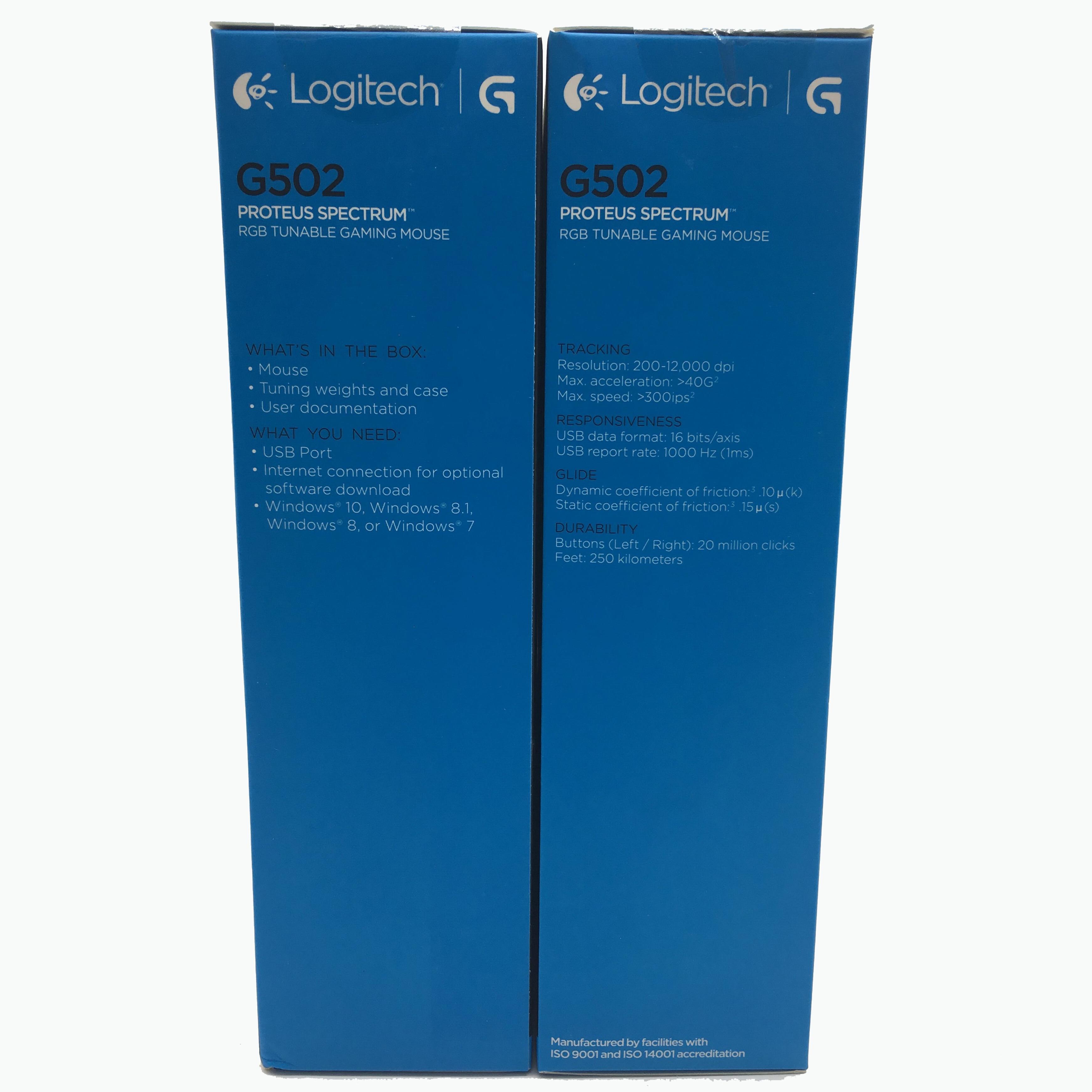 100% genuino Inglese imballaggio Logitech G502 RGB LED Proteus Spettro Laser Sintonizzabile Gaming mouse USB Wired 12000DPI Gamer mouse - 4