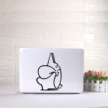 Cute Laptop Sticker Totoro Art Pattern Vinyl Decal Black Laptop Stickers For Macbook Air Laptop skin decoration(China)