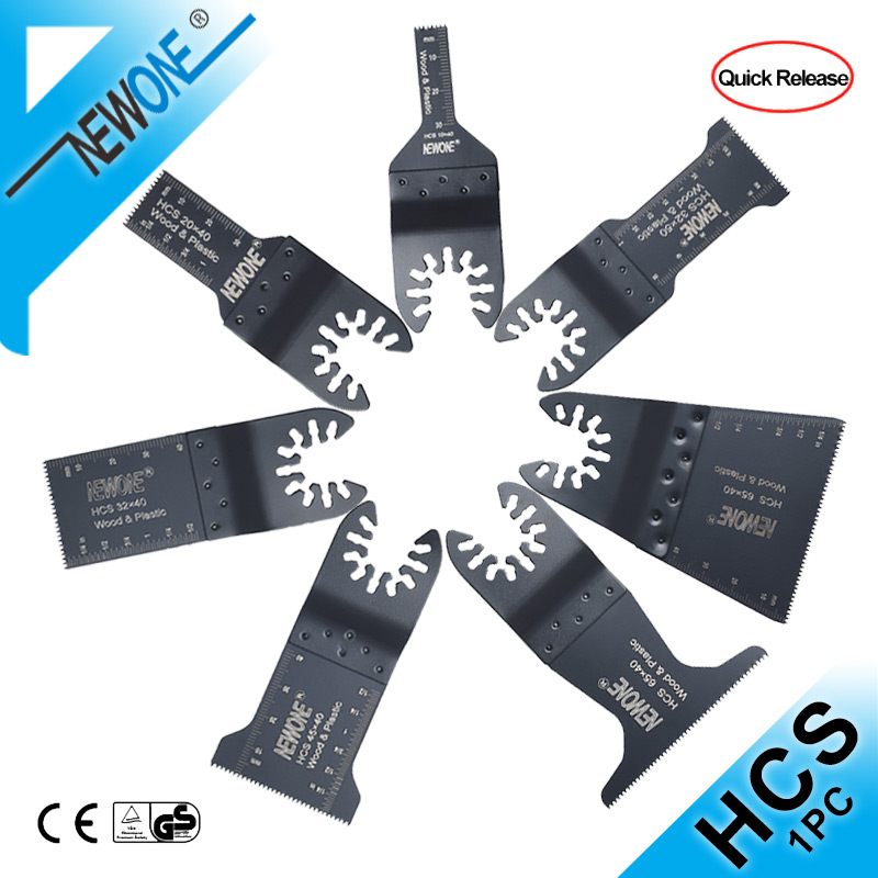 NEWONE Quick-release HCS Standard Oscillating Saw Blade For   Multi-function Tool Renovator Saw Blades Cut Wood/soft Metal