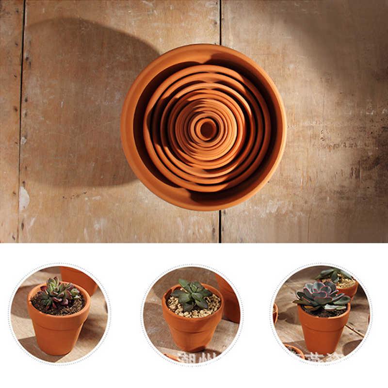 1Pcs Mini Tanah Liat Pot Tanah Liat Keramik Tembikar Planter Bunga Kaktus Pot Succulent Nursery Terracotta Pot Besar