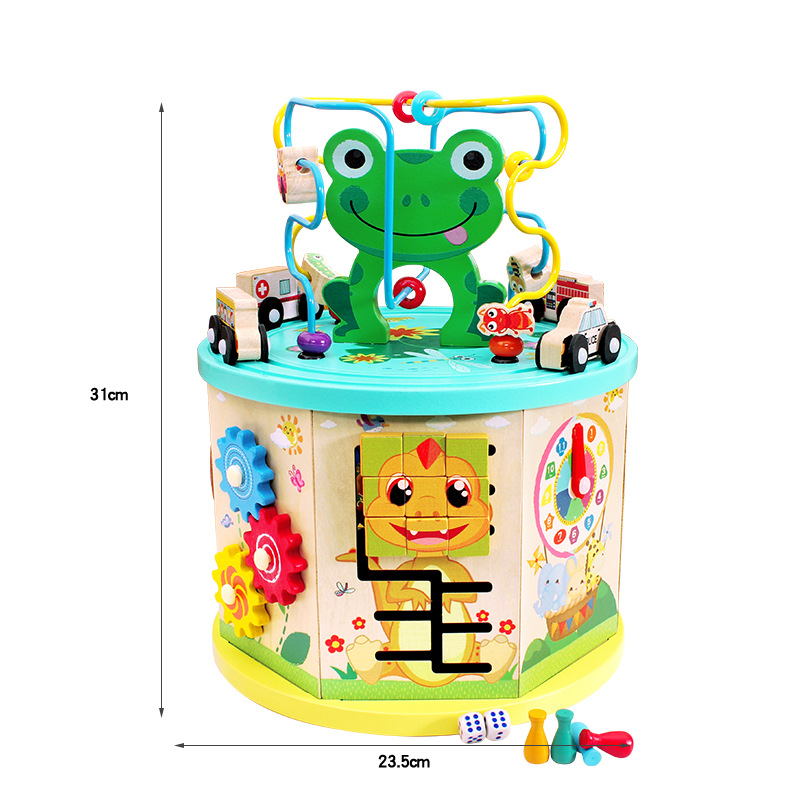 Multi-functional Bead-stringing Toy Beaded Bracelet Baby Educational Toy Treasure Chest Children 1-3-6-Year-Old Men's Have GIRL'