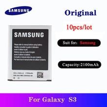 10pcs/lot Battery For Samsung Galaxy S3 I9300 I9308 I535 L710 Genuine Phone Replacement Batteria EB-L1G6LLU 2100mAh AKKU samsung orginal eb l1g6lla eb l1g6llu llk llz 2100mah battery for samsung galaxy s3 i9300 i9305 i747 i9060 i9128 i9308 i535 i930