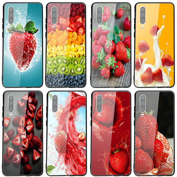 Roasted Strawberry Rhubarb Agua Fresca Tempered Glass Phone Case For Huawei P20 P30 Y6 Y9 Honor 6X 8 8X 9 10 Plus Lite Pro image