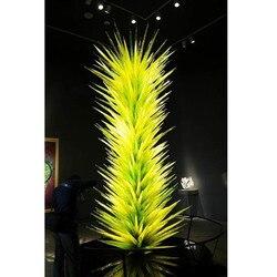 Gran oferta LED lámpara de pie de cristal Murano lámpara de escultura de pie de cristal para jardín