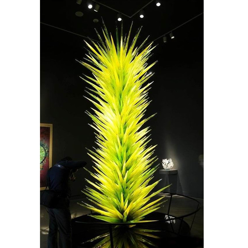 Hot Sale LED Murano Glass Floor Lamp Glass Art Sculpture Standing Lamp For Garden