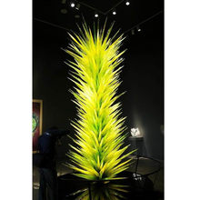 Hot Sale LED Murano Glass Floor Lamp Glass Art Sculpture Standing Lamp for Garden(China)