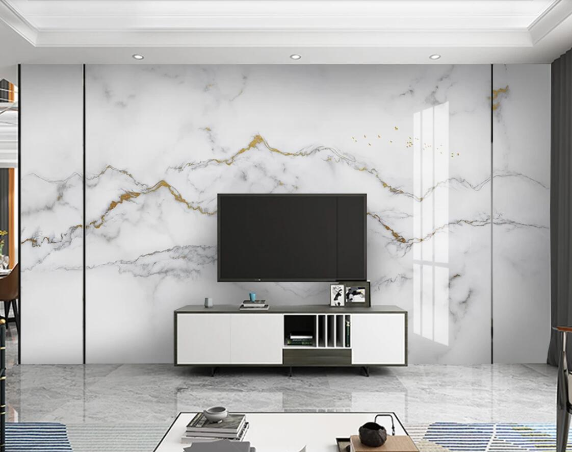 Grey White Marble Wallpaper Photo Mural Art Wall Painting 3d Wall Papers Home Decor Luxury Wall Murals For TV Background Decor