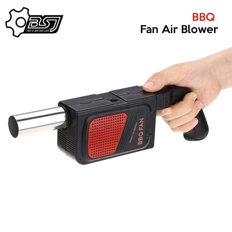 Ventilador eléctrico portátil de mano para barbacoa, soplador de aire al aire libre para acampar, Picnic, barbacoa, herramienta de cocina, accesorios de parrilla