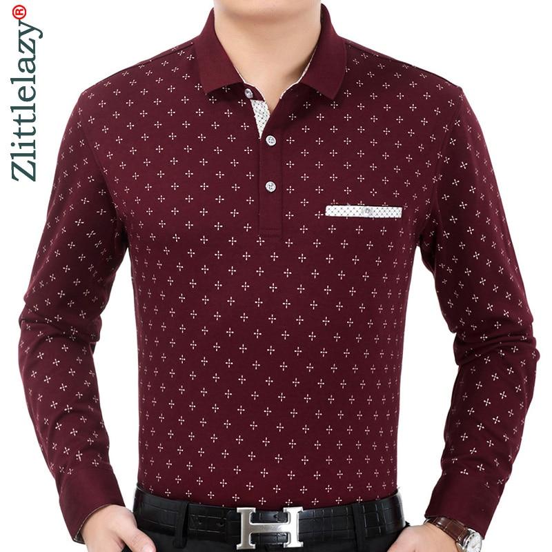 2019 brand casual luxury fitness long sleeve   polo   shirt men poloshirt jersey pocket mens   polos   tee shirts dress fashions 90331
