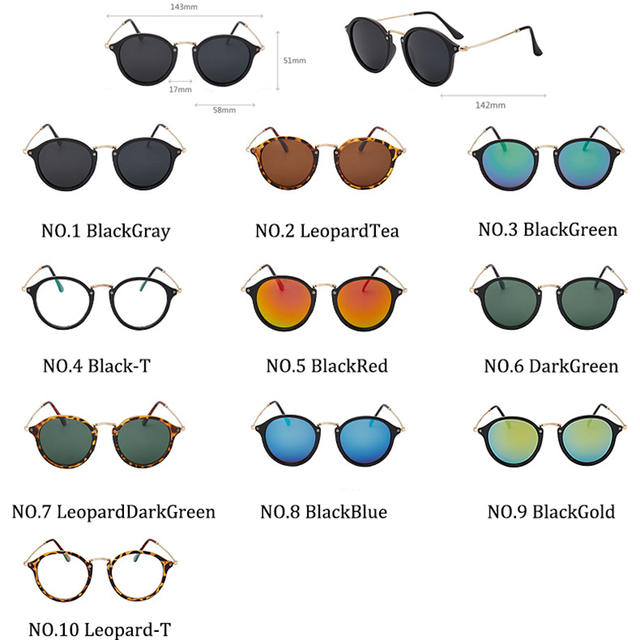 LeonLion-gafas De Sol redondas para hombre y mujer, lentes De Sol Retro De marca De diseñador, De moda, Vintage, De lujo 4