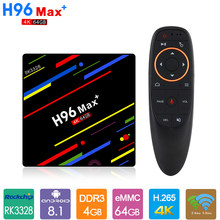 H96 MAX + TV Box Android 9.0 avec G10 voix Air souris 4GB 64GB Rockchip RK3328 H.265 4K Smart H96max Plus décodeur(China)