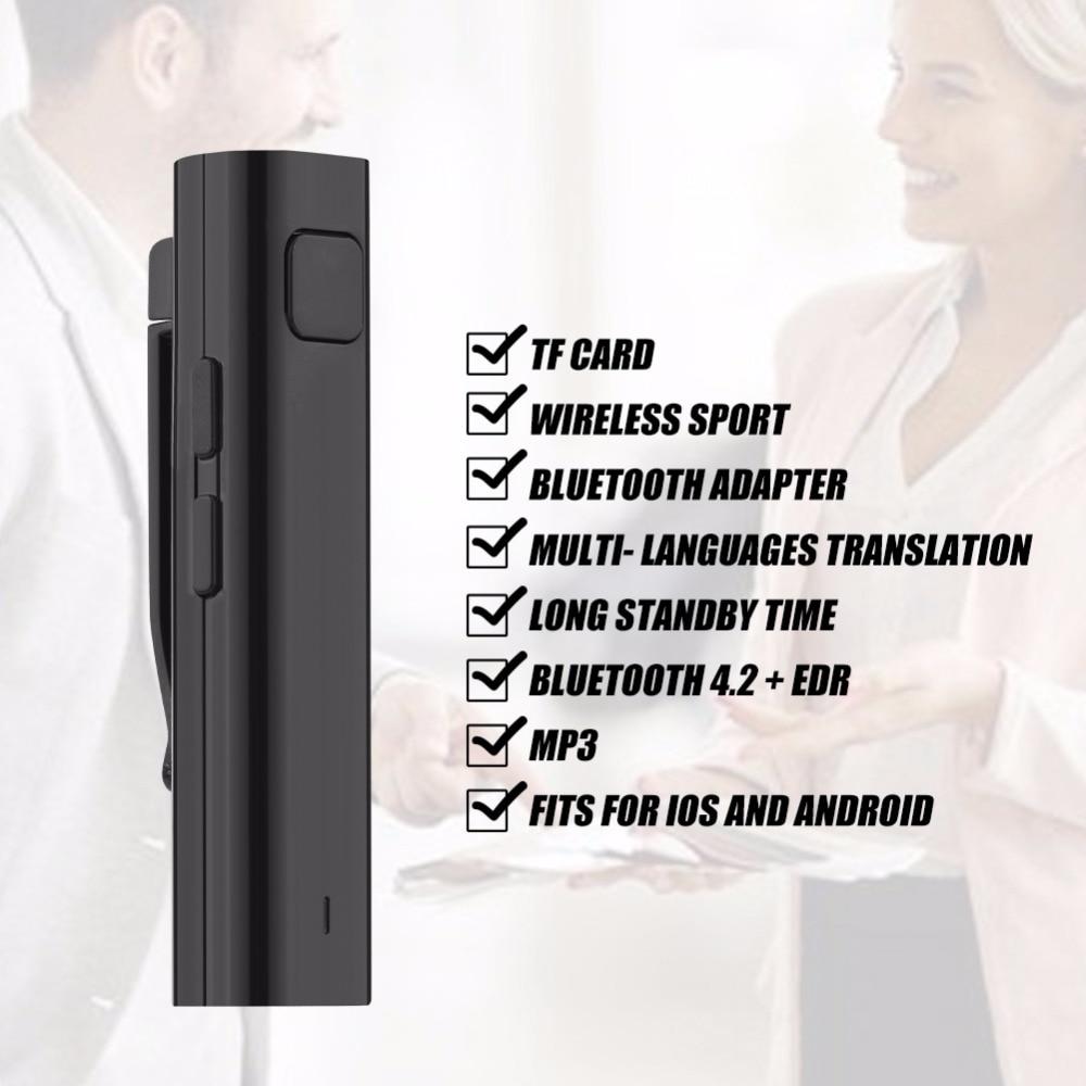 Hot Smart Translator Voice Instant Traductor For Business Learning Travel Traducteur Vocal Support Multi-Language Output Black