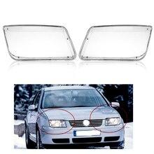 كشافات غطاء ل Volkswagen VW بورا جيتا MK4 1999 ~ 2005 سيارة العلوي كشافات واضح غطاء للعدسات السيارات قذيفة