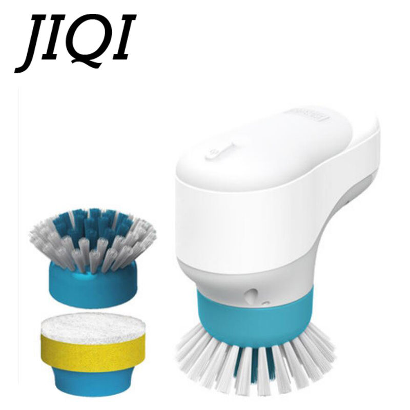 JIQI Handle Electric Multifunction Household Dishwashing Brush Pot Cleaner Dishes Cleaning Brush Tile Bathtub Kitchen Dishwasher