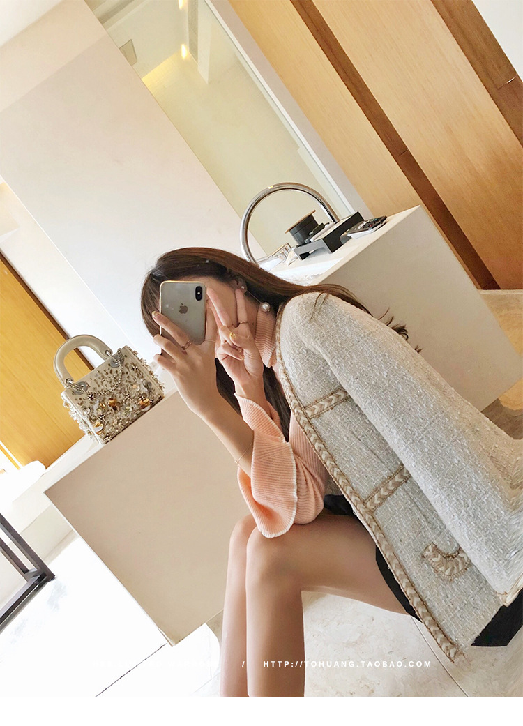 Leisure Jacket Autumn Jackets Women 2020 New Style Temperament Small Fragrance Tweed Short Jacket Coat Women