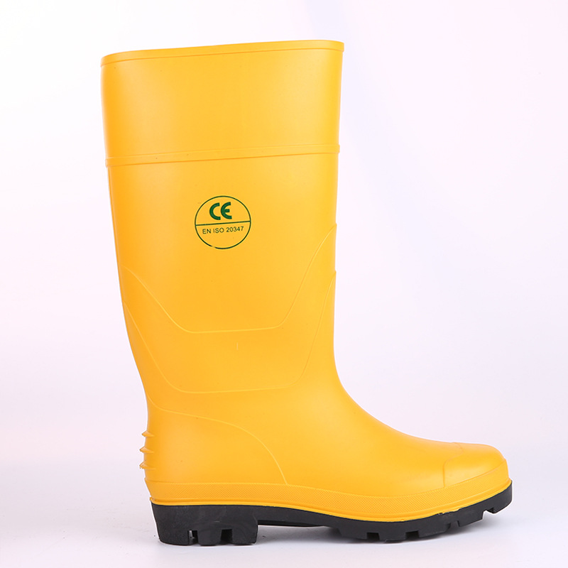 Waterproof Anti-slip Safe Labor Safety Rain Boots Corrosion-Resistant Acid And Alkali Resistant Steel Top Steel Insole Smashing