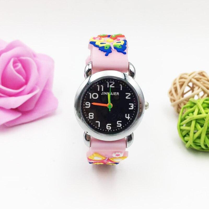 Kids Watches Cartoon 3D Animal Pattern Quartz Watch Girls Boys Students Sports Wristwatches Pink Silicone Relogio Infantil Gifts