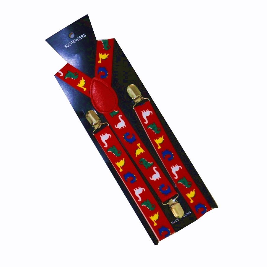 2019 New 2.5cm Wide Men's Adjustable Clip On Dinosaur Animals Suspenders For Mens Womens