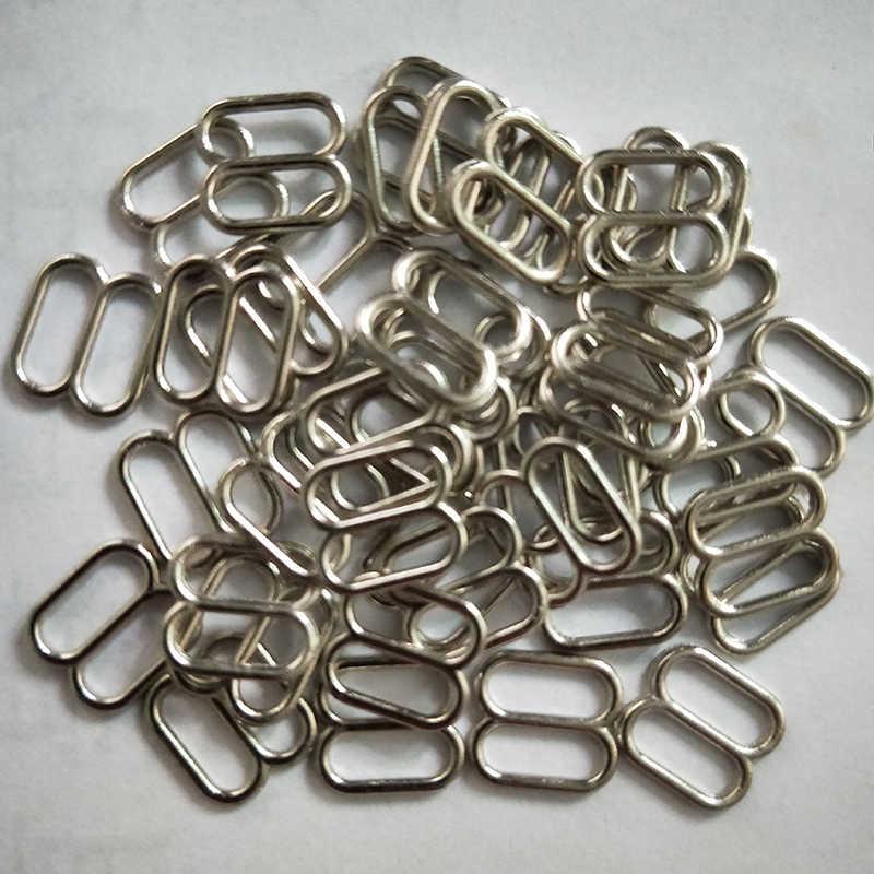 500 個金属ランジェリー調節可能な縫製ブラジャースライダーリングバックル DIY 8 ミリメートル