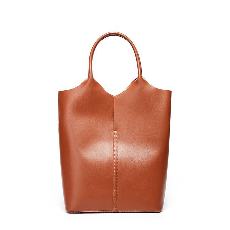 Fashion Casual Tote Genuine Leather Luxury Handbags Women Bags Leisure Large Capacity Bag Sofe Cowhide Shoulder Bags