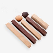 Maçanetas de madeira para armário, puxadores para cozinha, gaveta, armário, porta, tábua Handle-1Pack