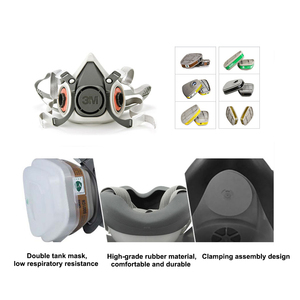 Image 3 - 19in1 3M 6200 Half Facepiece Gas Mask Respirator With 6001/2091/5N11 Filter Fit Painting Spraying Dust Proof