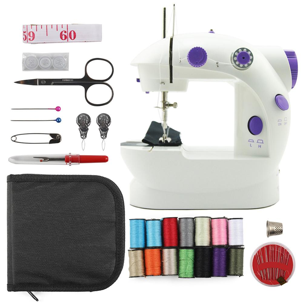 Image 2 - Electric Mini Sewing Machine For Home Hand Machine To Sew 110/220V Speed Adjustment With Light Handheld Sewing MachineSewing Machines   -