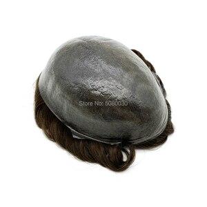 Image 2 - أنحف الجلد الرجال الشعر المستعار الخامس حلقة عقدة الشعر استبدال خط الشعر الأمامي غير قابلة للكشف الشحن السريع