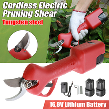 16.8V Rechargeable Electric Pruning Scissors Pruning Shears Garden Pruner Secateur Branch Cutter Cutting Tool with Battery