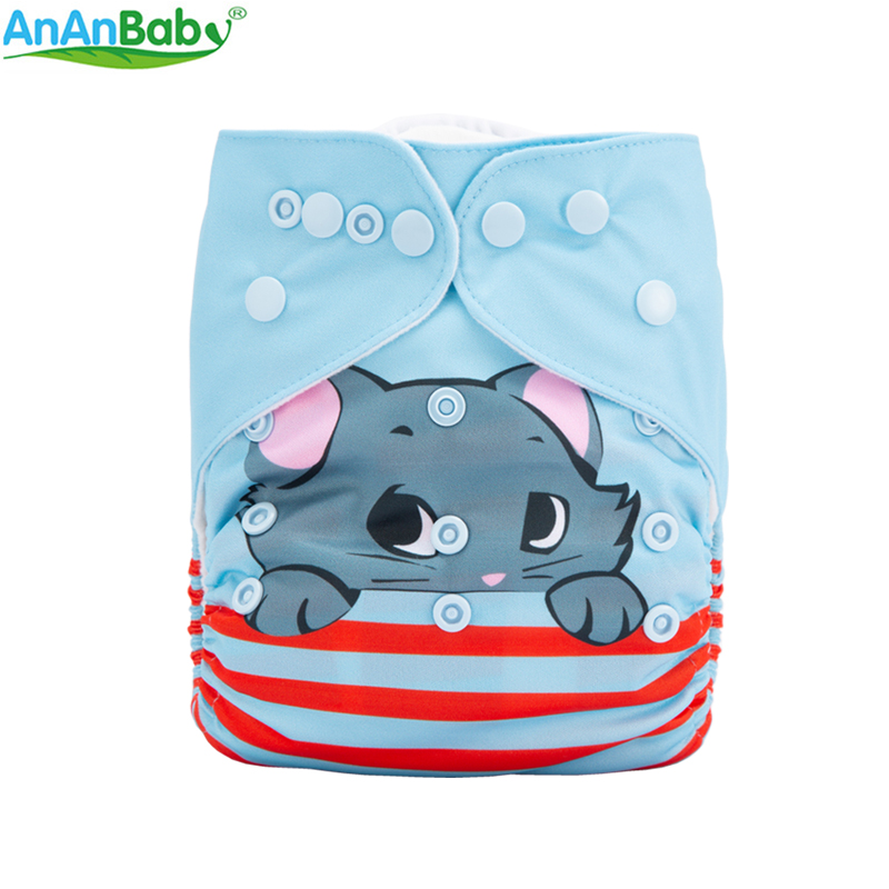 {AnAnBaby}New Design 2018 Digital Position Printing Reusable Cloth Diaper One Size You Choose With Microfiber Inserts Or Not