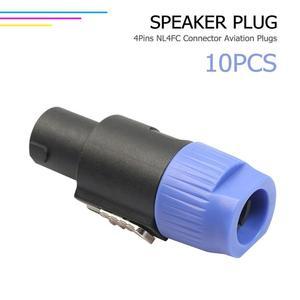 Image 3 - ALLOYSEED 10 sztuk/partia 4 biegunowe 4Pin NL4FC złącze Ohm wtyczka głośnik kabel Audio wtyczka Adapter 4 Pin Speakon kobieta Jack akcesoria