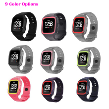 Adjustable Smart Soft Rubber Sport Watch Strap Band Quick Release Fashion Silicone ForFitbit Versa