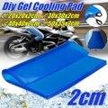 2CM Motorcycle Seat Cushion Gel Pad Cool Pad Shock Absorption Mat DIY Cut Cushion Blue For Motorcycle Car Chair Cushion