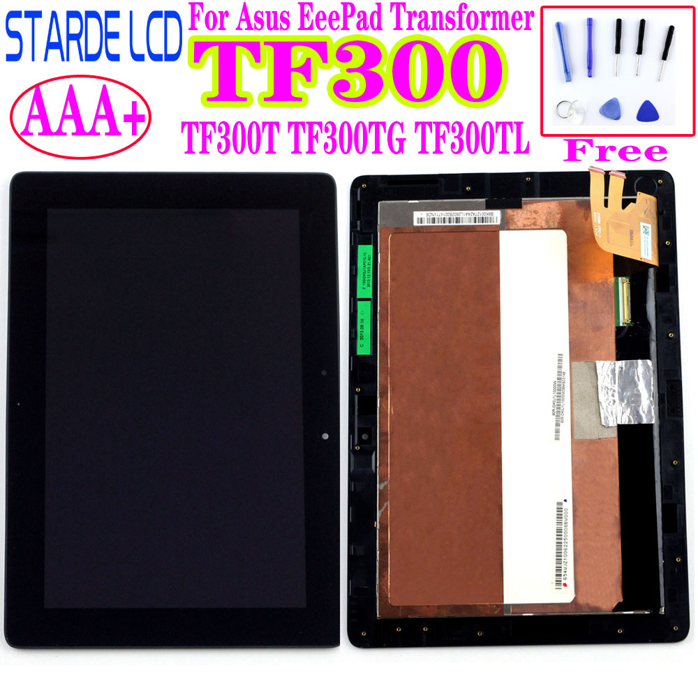10.1'' LCD For Asus Transformer Pad TF300 TF300TG TF300F TF300TL 5158N FPC-1 LCD Display Touch Screen Digitizer With Frame