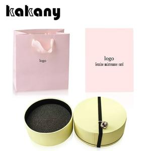 Женская Подарочная коробка KAKANY Bear, изысканная Подарочная коробка для ювелирных изделий, оригинальная карточка для обслуживания, Ювелирное ...