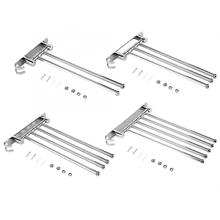Towel Racks for Bath Kitchen Stainless Steel Wall Mount Rotary Towel Rack Bathroom Towels Rail with Hook Cupboard Hanger