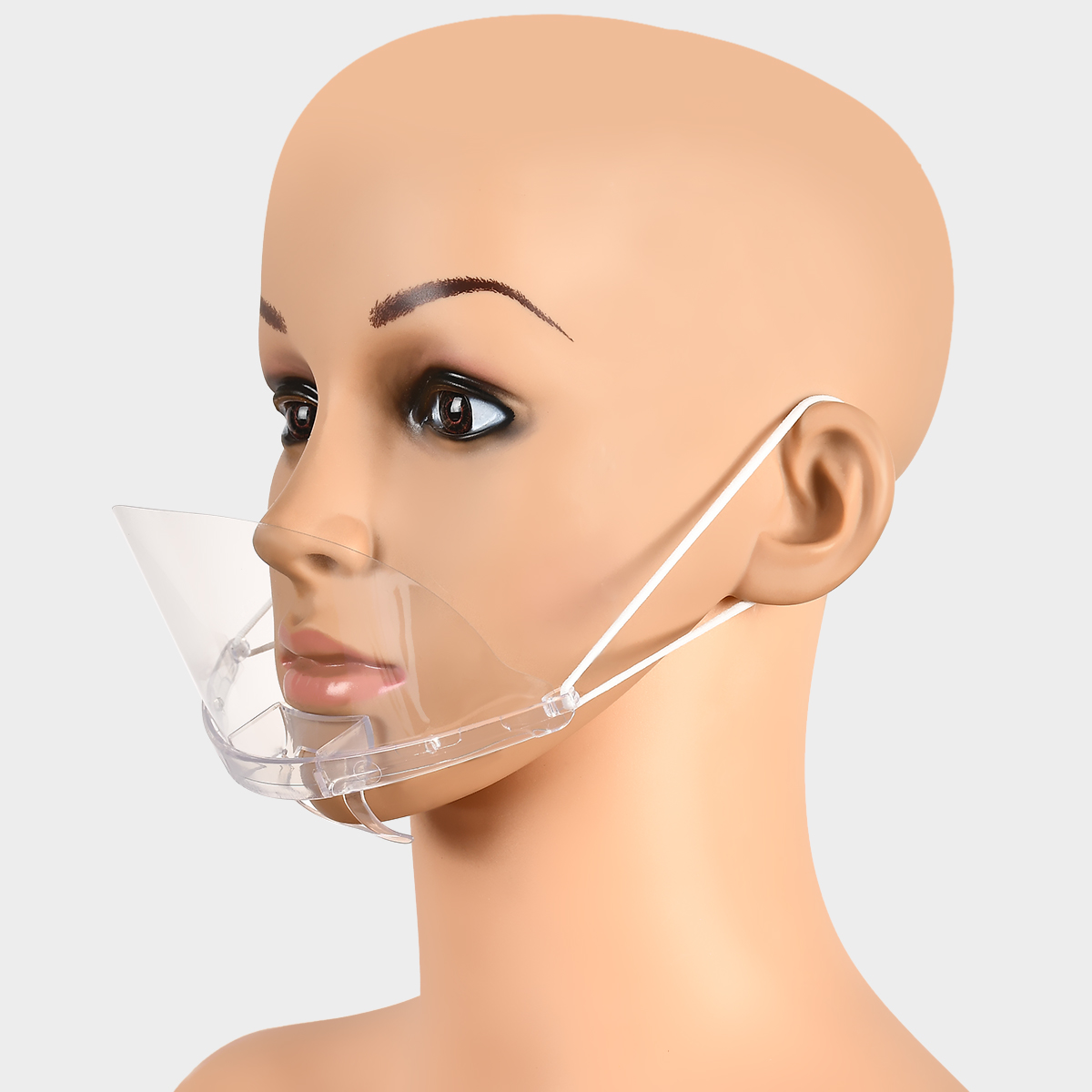 10pcs/Set Kitchen Sanitary Tool Transparent Masks Permanent Anti Fog Catering Food Hotel Plastic Kitchen Restaurant Masks