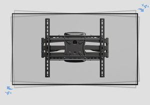 "Image 2 - 2019 חדש NB P5 אוניברסלי מלא תנועה 32 "" 60"" LCD טלוויזיה קיר הר סוגר 6 זרוע חזק 36.4kg 400X400 עם כבל כיסוי מסתובב pivot"