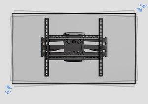 """Image 2 - 2019 nuovo NB P5 universale Full Motion 32 """" 60"""" LCD TV montaggio a parete staffa 6 BRACCIO FORTE 36.4kg 400X400 con cavo girevole della copertura pivot"""