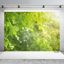 Photo Backdrop Green Leaves Sunshine Bokeh Customized Backgrounds for Children Baby Portrait Scenery Photocall Photography Props