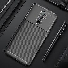 For Realme X2 Pro Case Luxury Carbon Fiber Cover Full Protec