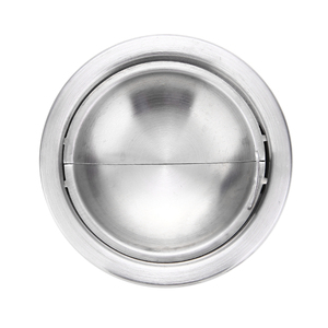 Image 5 - 1pc Cigarette Lidded Ashtray Stainless Steel Silver Windproof Ashtray with Lid Round Shape Smoking Ash Tray
