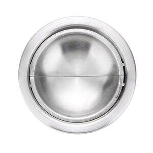 Image 5 - 1pc papieros popielniczka popielniczka ze stali nierdzewnej srebrny wiatroszczelna popielniczka z pokrywką okrągły kształt popielniczka