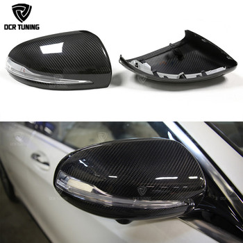 For Mercedes W205 W222 W213 W238 X205 Benz C S GLC E Class Dry Carbon Mirror cover 1:1 Replace Style AMG Dry carbon caps